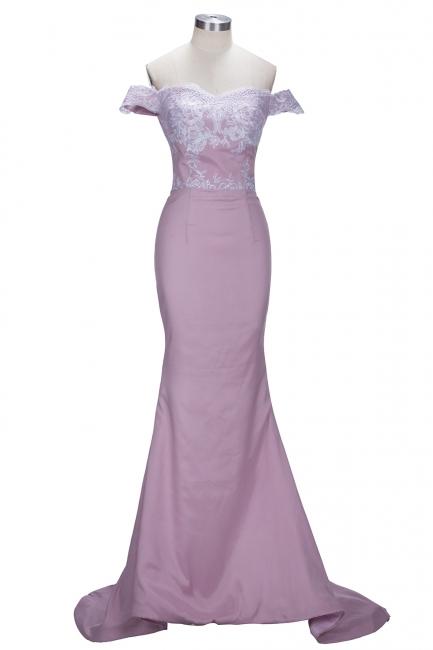 Forme sirène robe de cérémonie en dentelle délicat épaule nu boutonnage dans le dos