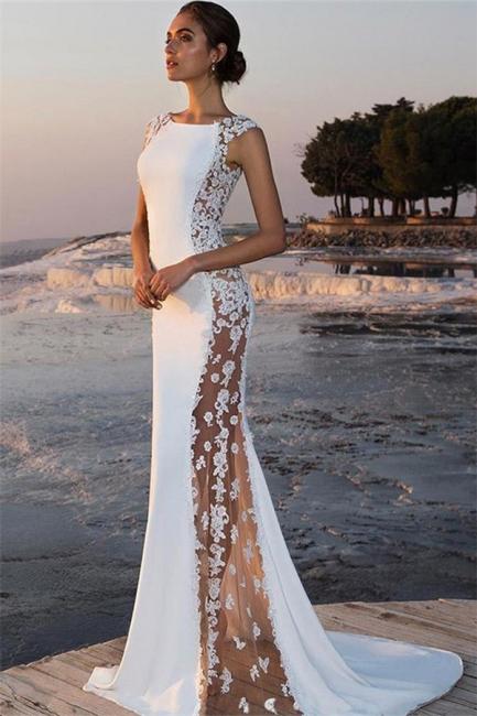 Robe de soirée sirène sexy avec dentelle | Robe de cérémonie trompette chic
