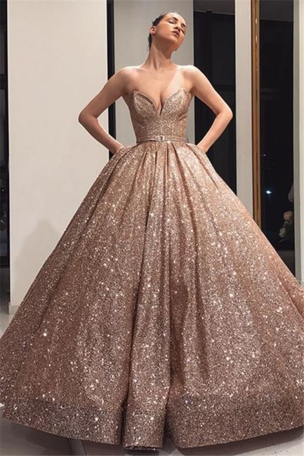 Robe de bal princesse épaules nues | Robe de soirée princesse brillante