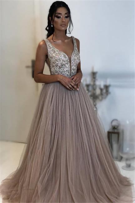 Robe de bal princesse tulle chic | Robe de soirée princesse tulle chic