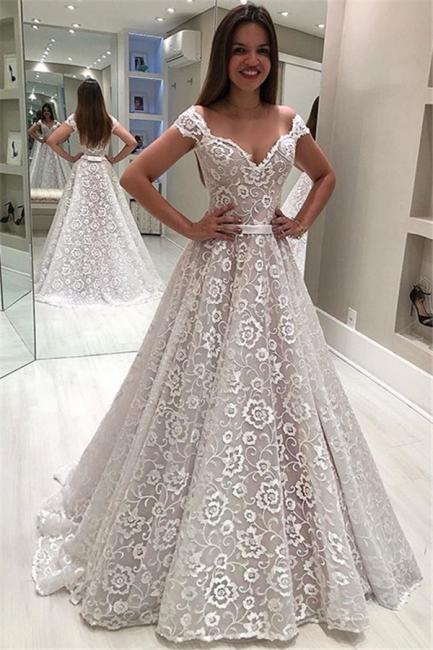 Robe de mariée princesse épaules nues | Robe de mariage princesse avec appliques