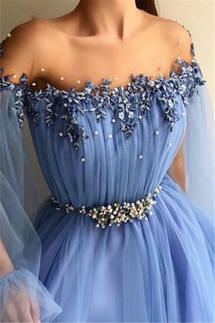 Robe de bal princesse manches bouffantes | Robe de soirée princesse tulle chic