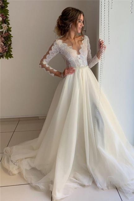 robe de mariée longue élégante avec dentelles en tulle