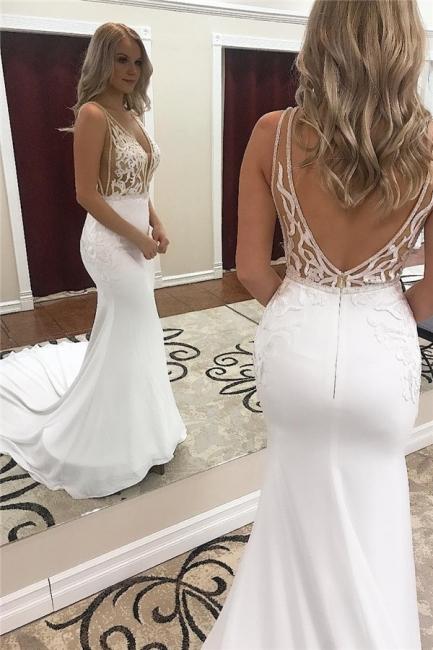 robe de mariée longue sirène dos nu en dentelle