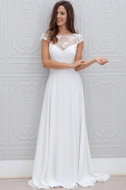 Forme Princesse alayage/Pinceau train Col bateau Robes de mariée 2020 avec Dentelle