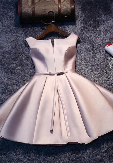Forme Princesse Court/Mini Robe d'étudiant Satin Pas Cher