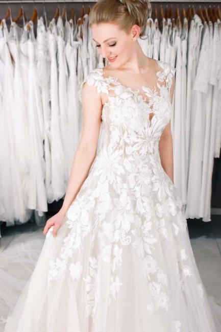 Designer Boho Brautkleider A linie | Hochzeitskleider Spitze