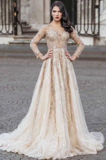 Superbe robe de mariée bohème | Robes de mariée manches longues
