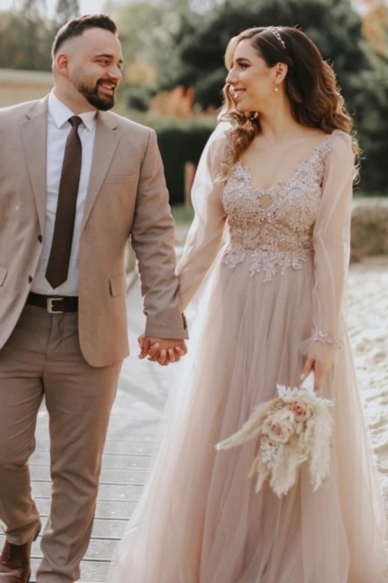 Robes de mariée modernes à manches   Robe de mariée en tulle
