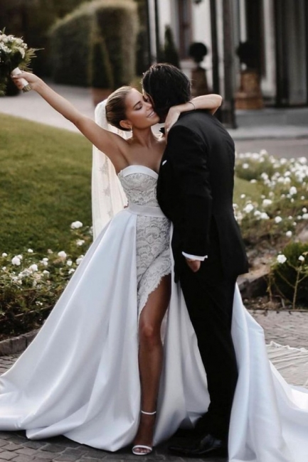 Robes de mariée élégantes en dentelle | Robe de mariée A ligne