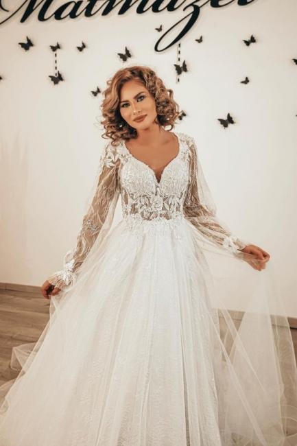 Robes de mariée de créateurs en dentelle | Robes de mariée bohème à manches