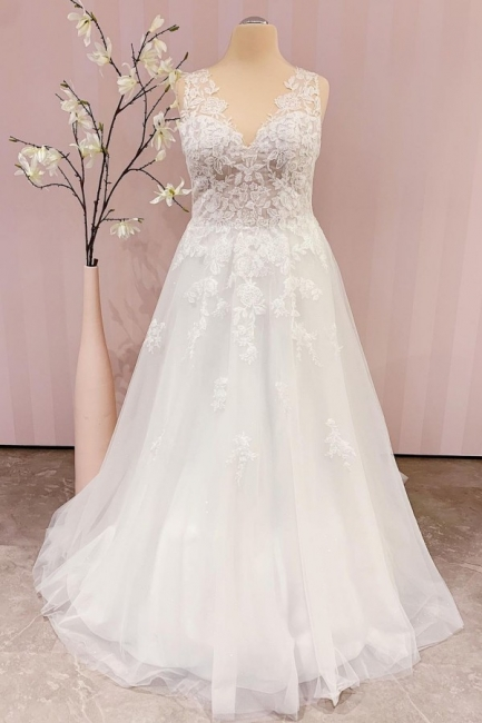 Robe de mariée simple A ligne   robes de mariée bohème