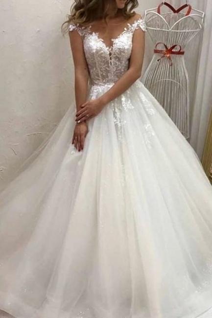 Robes de mariée de créateurs Une ligne | Robe de mariée en tulle