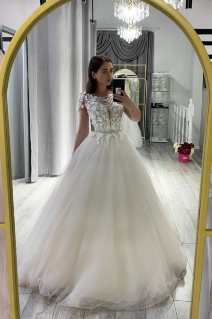 Robe de mariée design A ligne   Robe de mariée en tulle