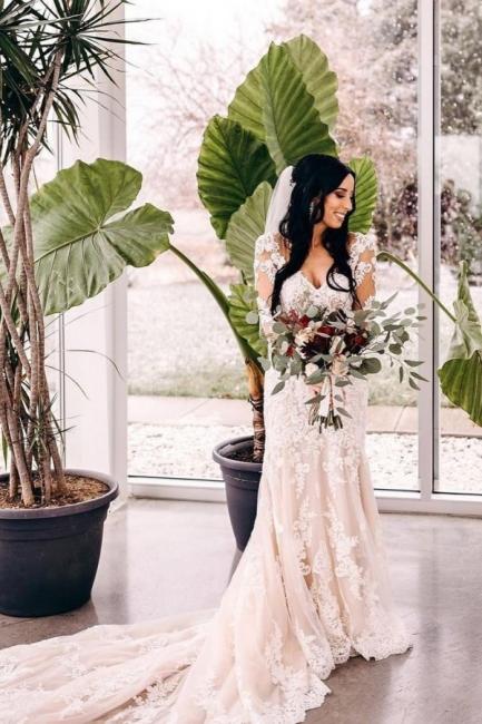 Robes de mariée de créateur sirène | Robe de mariée simple en dentelle