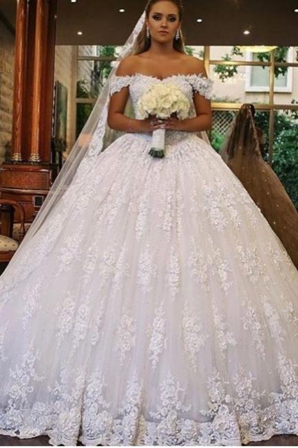 Robes de mariée de luxe avec dentelle | Robes De Mariée Princesse Pas Cher