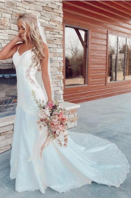Belles robes de mariée sirène   Robes de mariée avec dentelle