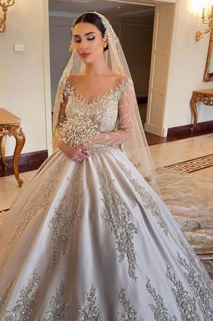 Robes de mariée extravagantes princesse   Robes de mariée à manches
