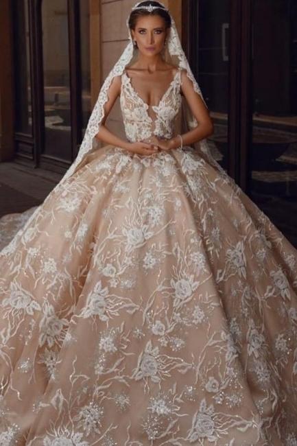 Robes de mariée extravagantes princesse   Robes de mariée en dentelle paillettes