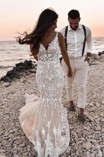 Robes de mariée de créateur sirène | Robes de mariée en dentelle