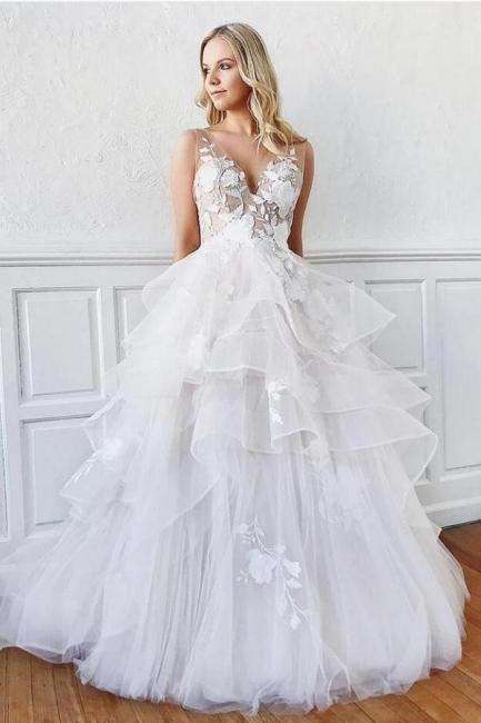 Robes de mariée modernes Ligne A | Robes de mariée avec dentelle