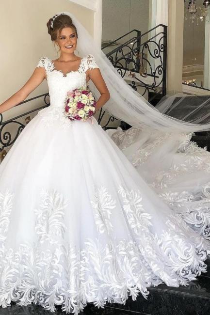 Designer Brautkleider A Linie Spitze | Hochzeitskleider Günstig