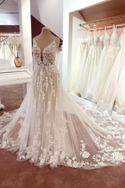 Robes de mariée magnifiques A Line Lace | Robes De Mariée Pas Cher En Ligne