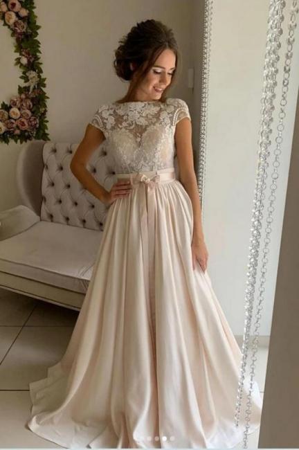 Robes de mariée simples avec dentelle   Robes de mariée pas cher