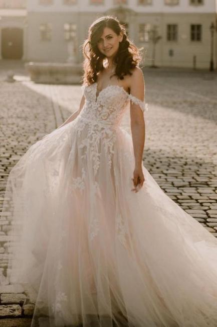Robes de mariée simples en dentelle | Acheter des robes de mariée bohème en ligne