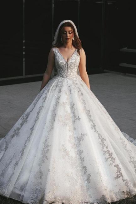 Robes de mariée de créateurs Une ligne   Robes de mariée en dentelle paillettes