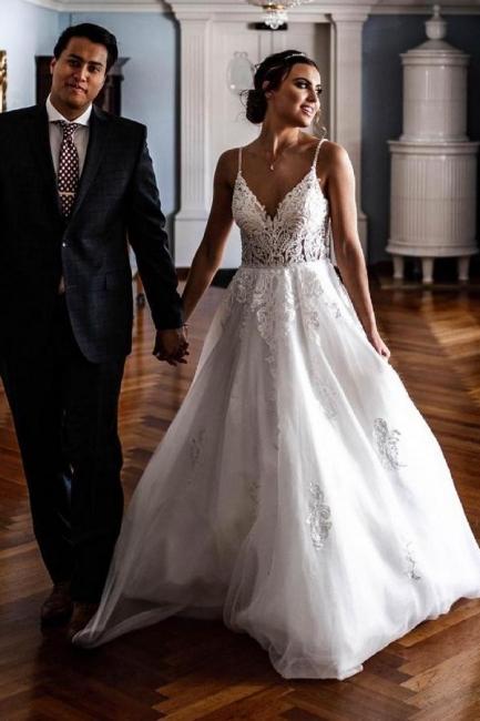 Robes de mariée élégantes A Line Lace   Robes De Mariée Pas Cher En Ligne