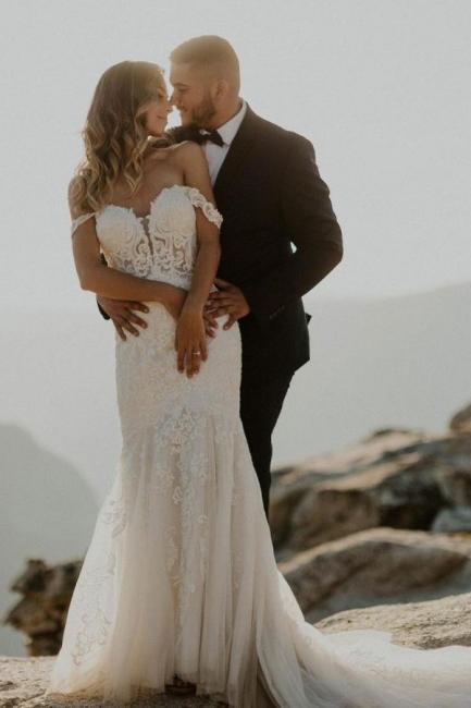 Robes de mariée de créateur sirène   Robes de mariée avec dentelle
