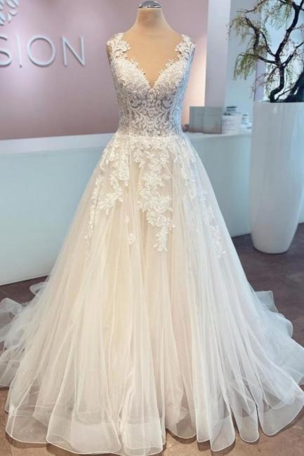Robes de mariée pas chères avec dentelle | Robes de mariée Une ligne