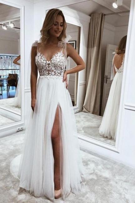 Robes de mariée simples avec dentelle | Acheter des robes de mariée pas chères