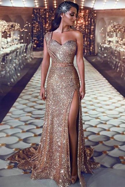 Robe de soirée longue pailletée brillante | robe de soirée cérémonie chic