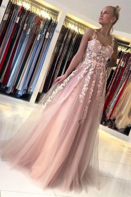 Magnifiques Robes de Soirée Longues Rose | Robes de bal avec dentelle