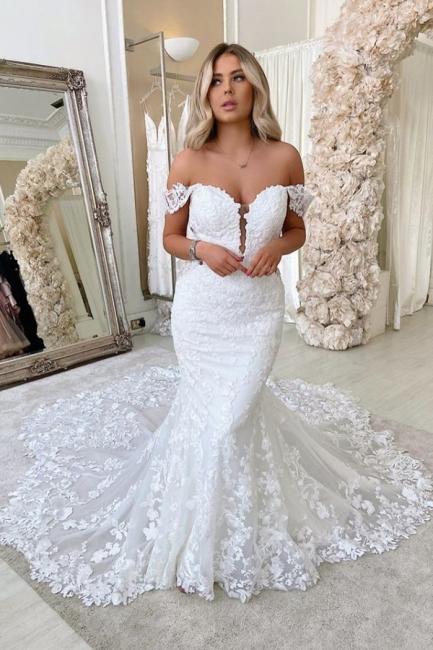 Robes de mariée de créateur sirène | Dentelle De Mariée en ligne