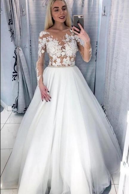 Belles robes de mariée à manches | Robes de mariée pour petites femmes