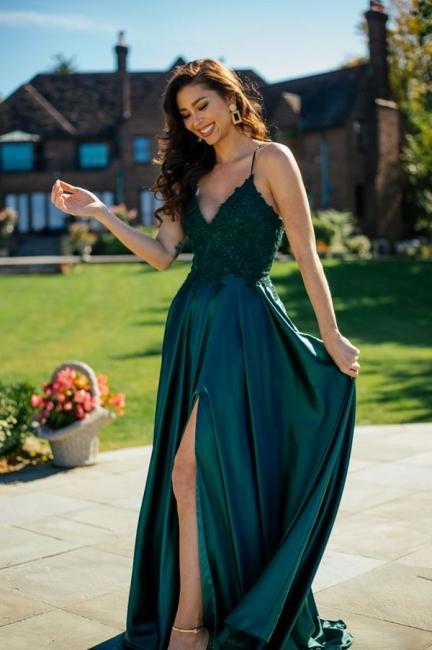 Robes de soirée simples vertes   Robes de bal longues pas cher