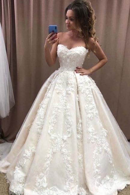 Robe de mariée élégante princesse | Belle robe de mariée avec dentelle