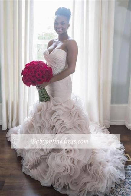 Robe de mariée sirène orgenza sublime | Robe de mariage trompette col en cœur
