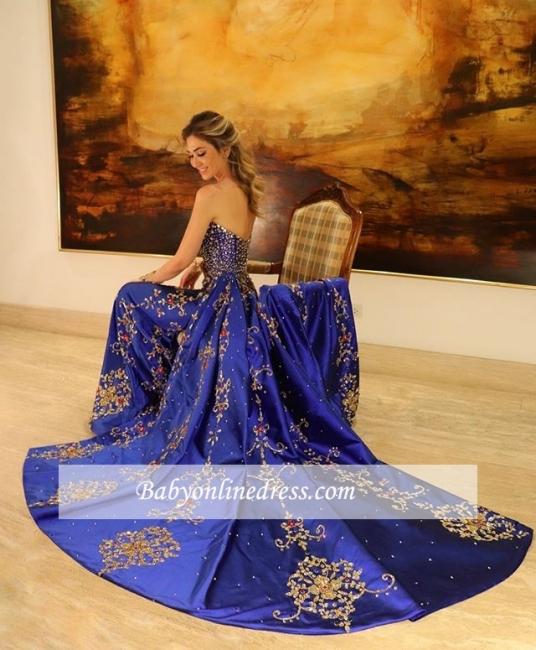 Robe de bal princesse sublime avec appliques | Robe de soirée princesse sans bretelles