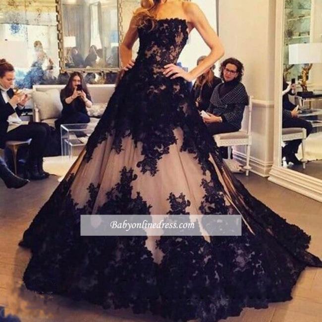Robe de bal princesse dentelle élégante | Robe de soirée princesse sans bretelles