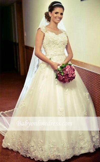 Robe de mariée princesse avec appliques   Robe de mariage princesse classique