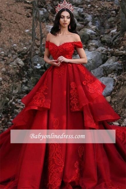 Robe de mariée princesse élégante avec dentelle | Robe de mariage princesse épaules nues