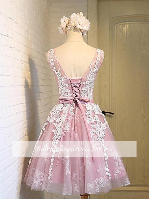 Robe de soirée princesse courte chic | Robe de cocktail princesse mini avec appliques