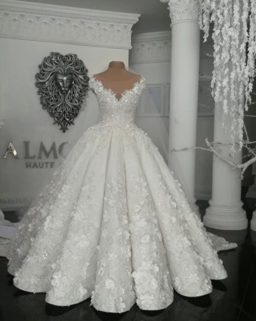 Robes de mariée de luxe en cristal 2021 | Robes de mariée en tulle transparent avec perles BC0708
