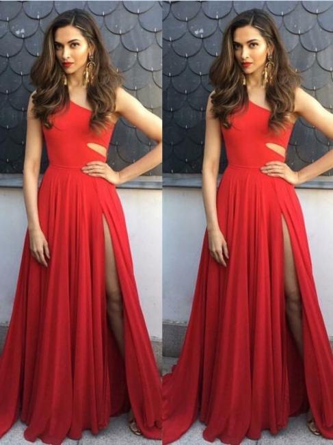 robe de soirée longue | robe rouge simple
