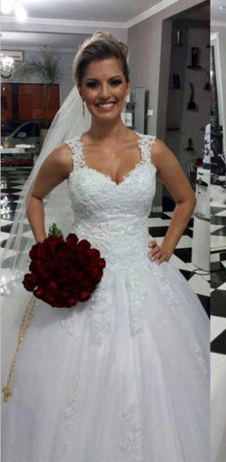 Forme Marquise Longueur ras du sol Col en cœur Dentelle 2021 Robes de mariée avec Dentelle