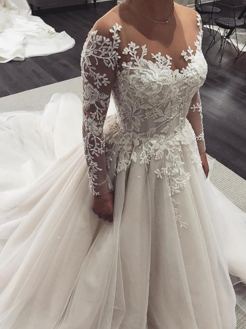 Robe de mariée princesse tulle chic avec appliques | Robe de mariage princesse longue élégante